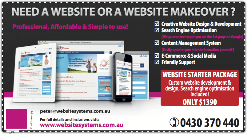 Website Systems has placed an add in the MegaDeals and Coupons!