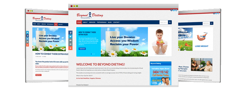 Beyond-Dieting.com - Special Bundle Package with SEO, lot of features, CMS with Responsive template for mobile devices !